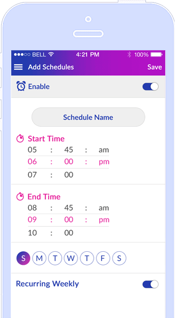 Intuitive App Scheduling